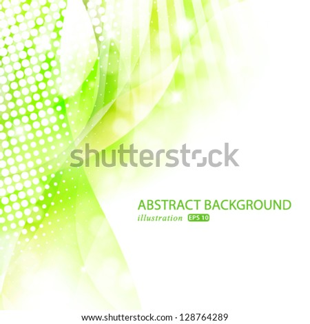 Vector abstract luxury spring illustration background template. - stock vector