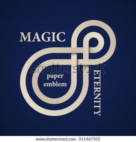 vector abstract magic eternity paper emblem - stock vector