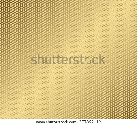 Vector abstract metal gold hexagon with cells - stock vector