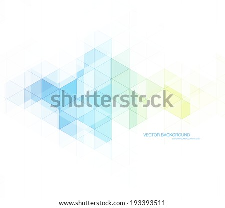 Vector abstract modern polygonal geometric background. Transparent triangular mosaic with subtle lines. - stock vector