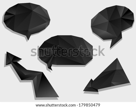 vector abstract modern polygonal labels - Separate layers for easy editing - stock vector