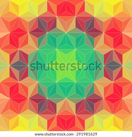Vector Abstract Modern Psychedelic Pattern - stock vector