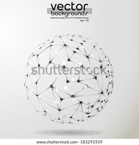 Vector abstract molecule spheres - stock vector