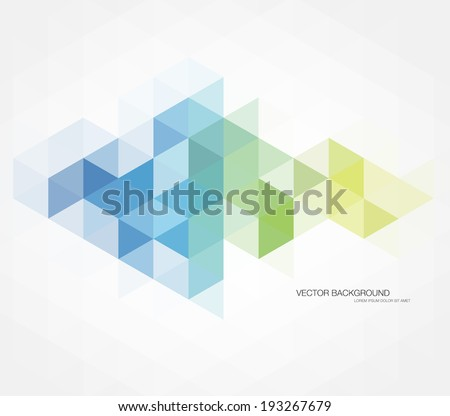 Vector abstract multicolored polygonal mosaic background. Modern geometric triangular pattern. Business design template - stock vector