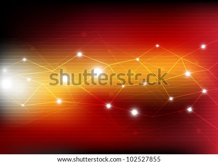 vector abstract network connection technology background - stock vector