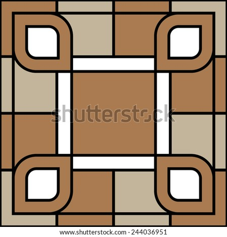Vector abstract ornamental seamless pattern, background - stock vector