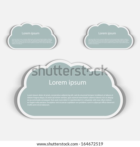 Vector Abstract paper speech bubble in a shape of a cloud