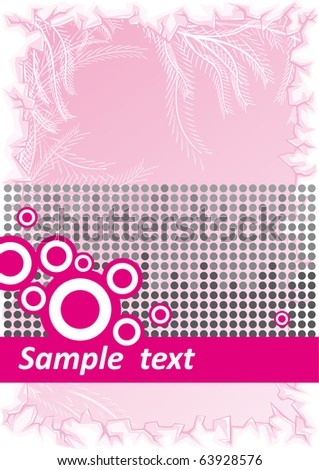 Vector Abstract pink background with black dots and space for text