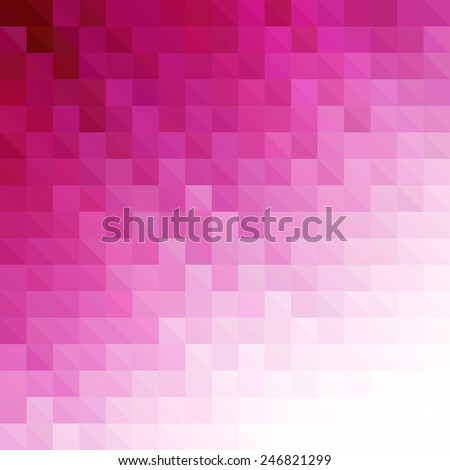 Vector Abstract pink geometric technology background  with triangle  - stock vector