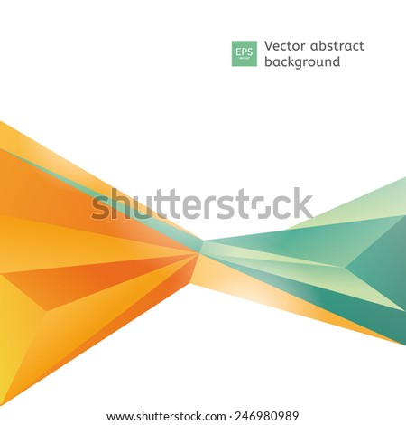 Vector abstract polygon background. Blank template with place for your text. - stock vector