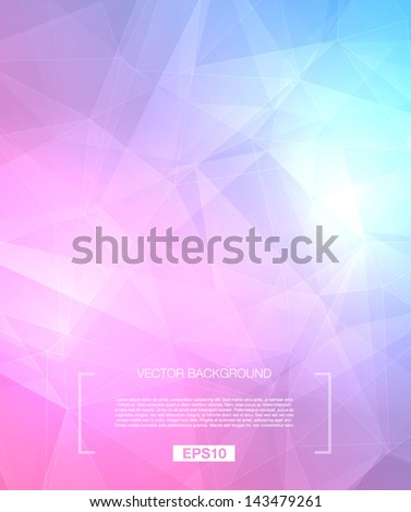 Vector abstract polygonal background - blue / purple - stock vector