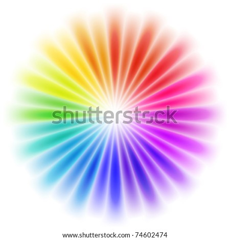 vector abstract rainbow background - stock vector