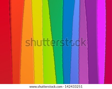 vector abstract  rainbow background from paper strips - stock vector