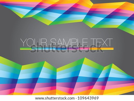 Vector abstract Rainbow colorful background. Business illustration layout. - stock vector