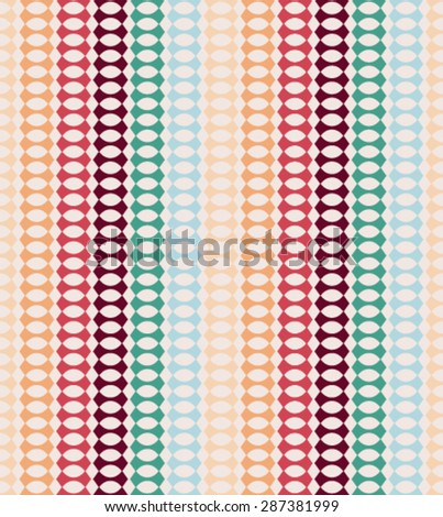 Vector abstract retro geometric seamless pattern with triangles illustration. - stock vector
