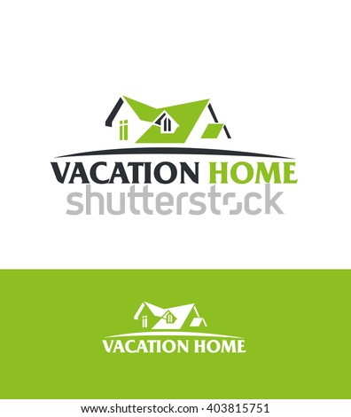vector abstract roof of the house concept design real estate logo design template  - stock vector