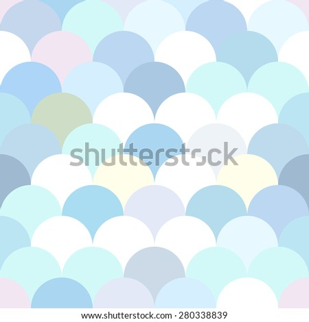 Vector abstract scale wave seamless pattern. Fish scale. - stock vector
