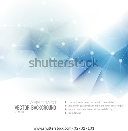 Vector Abstract science Background. Polygonal geometric design. EPS 10 - stock vector