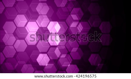 Vector Abstract science Background. purple Hexagon geometric design. EPS 10. science innovation concept abstract background - stock vector