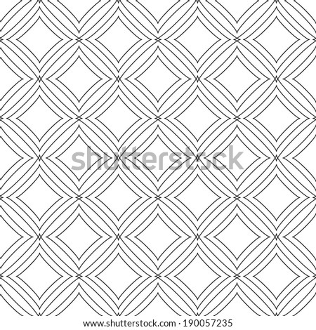 vector abstract seamless black and white pattern