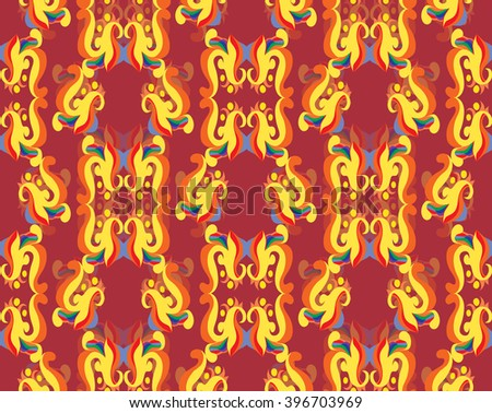 Vector abstract seamless from floral elements - stock vector