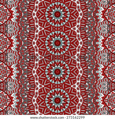 Vector Abstract Seamless  pattern background ornamental motif - stock vector