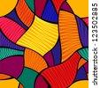 Vector abstract seamless vivid mosaic pattern - stock vector