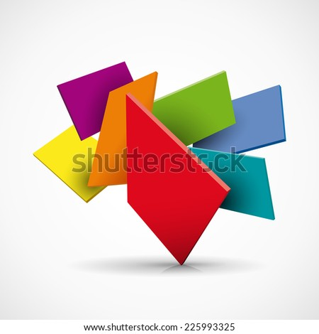 Vector abstract shapes 3d background
