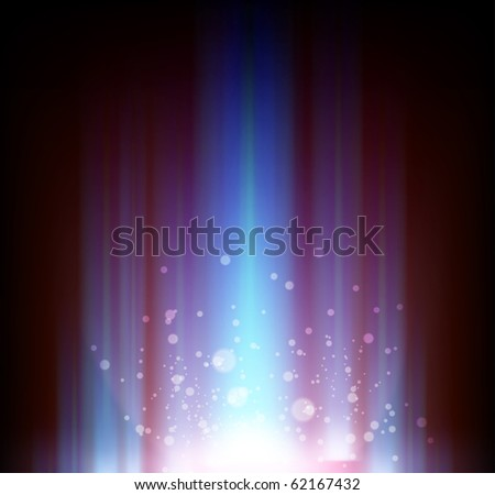Vector abstract shiny background for design with bright glow and blur rays. - stock vector