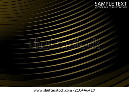 Vector abstract shiny golden striped background - Futuristic space golden vector background illustration - stock vector