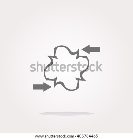 vector abstract sign with arrow set on icon (button). Vector arrow set Icon logo, arrow set vector Icon Sign, arrow set Icon Flat, arrow set button vector, arrow set button icon app, arrow set icon UI - stock vector