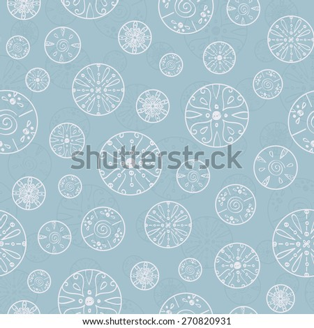 Vector abstract silver bubbles seamless pattern background - stock vector