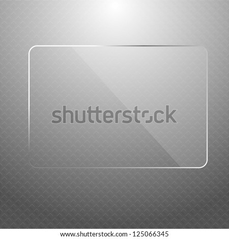 Vector abstract silver technology background with transparent design element, eps8 - stock vector