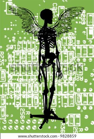 vector abstract skeleton - stock vector