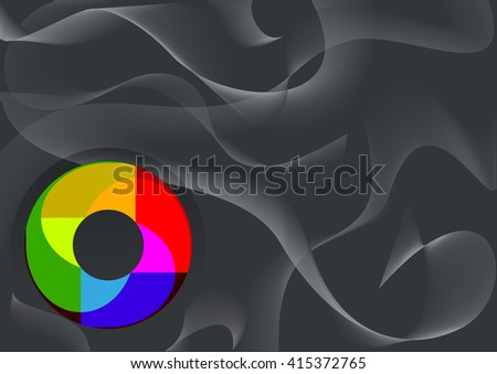 Vector abstract smoke background. Abstract composition illustration. Vector eps10.   - stock vector