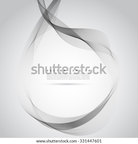 Vector abstract smoke background. Cigarette smoke waves on transparent background illustration - stock vector