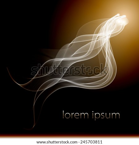 Vector abstract smoke background  isolated flow dynamic light abstract,  - stock vector