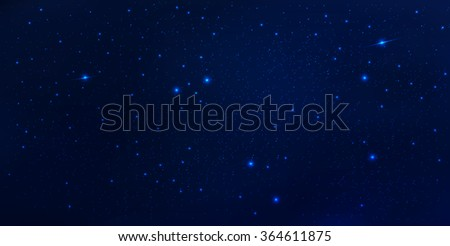 Vector abstract space background .Realistic space illustration - stock vector