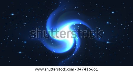Vector abstract space background . Space galaxy illustration .  - stock vector