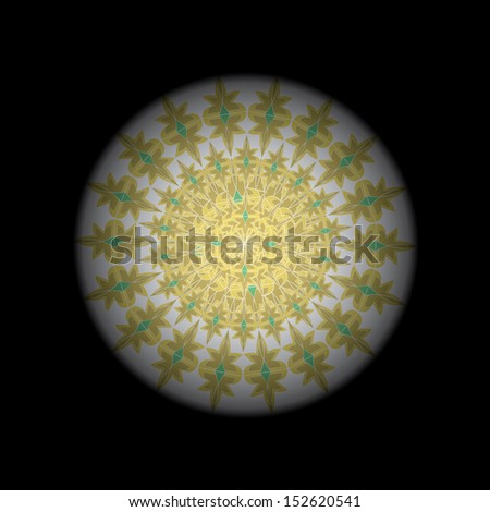 Vector Abstract Space Mandala like a Planet - stock vector