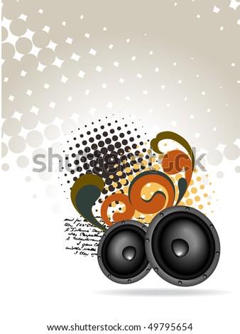 vector abstract speaker design - stock vector