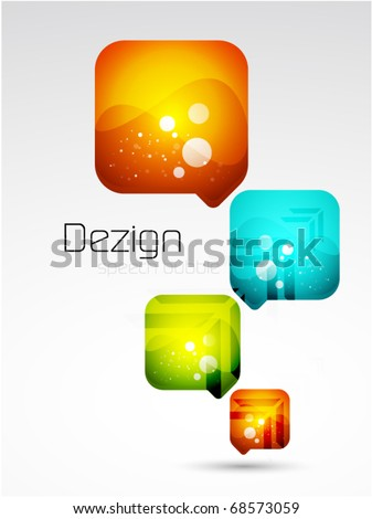 Vector abstract speech bubble background - stock vector