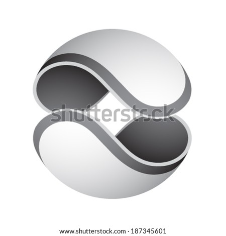 vector abstract sphere icon - stock vector