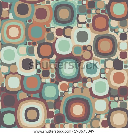 Vector abstract squares background illustration. Pattern of geometric shapes.
