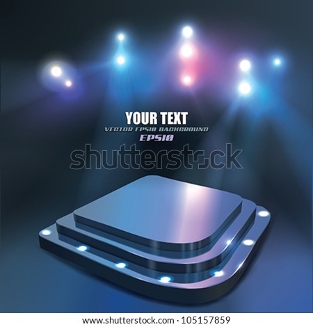 Vector Abstract Stage with Spotlight - stock vector