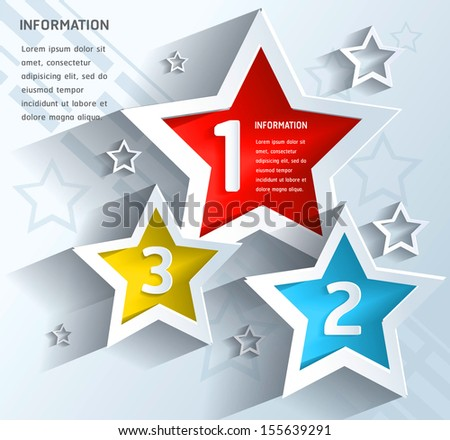 Vector abstract star background  - stock vector