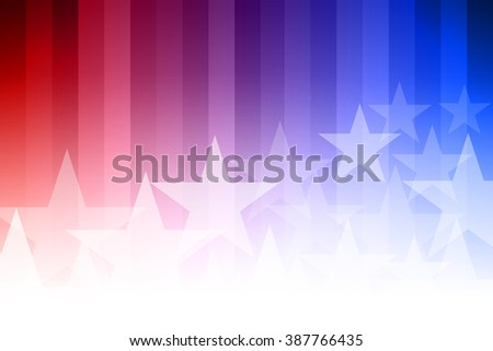 Vector abstract star background. Blue, red and white colors.  - stock vector