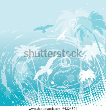 vector abstract summer background