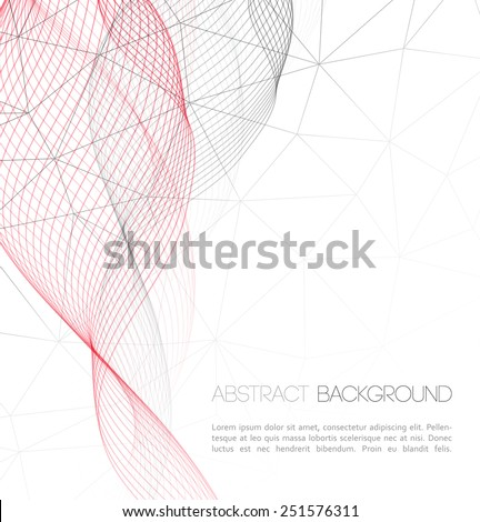 Vector Abstract technology background. Template  business brochure design - stock vector