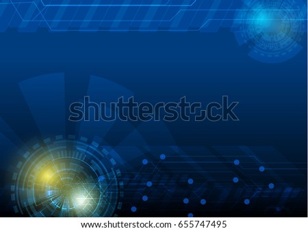 vector abstract technology innovation working concept background